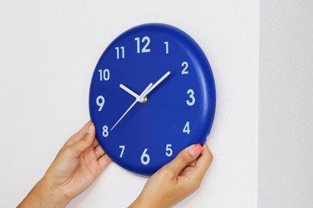 Zegar MPM ścienny 24 cm niebieski nowoczesny E01.3691.30