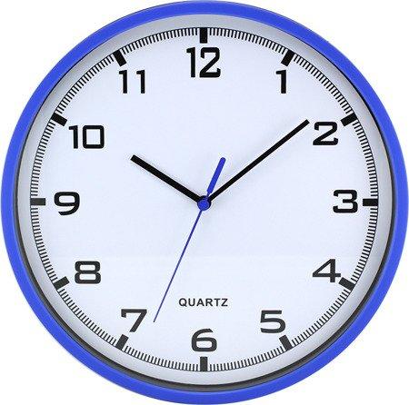 Zegar MPM ścienny 25,5 cm niebieski tworzywo nowoczesny czytelny E01.2478.30.A