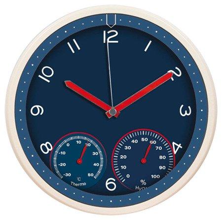 Zegar MPM ścienny 31,5 cm TERMOMETR HIGROMETR E01.3084.30