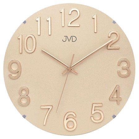 Zegar ścienny JVD nowoczesny  TWORZYWO METAL  HT98.3