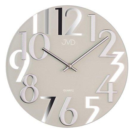 Zegar ścienny JVD nowoczesny szkło 29 cm HT101.1