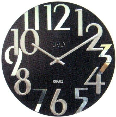 Zegar ścienny JVD nowoczesny szkło 29 cm HT101.2