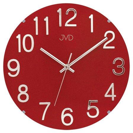 Zegar ścienny JVD nowoczesny tworzywo METAL  HT98.4