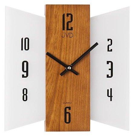 Zegar ścienny JVD szkło drewno N12004.11