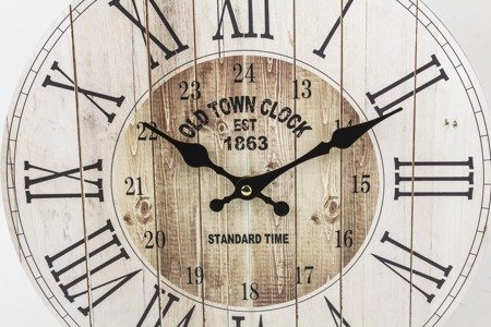Zegar ścienny MDF retro loft EFEKTOWNY 34cm 124262