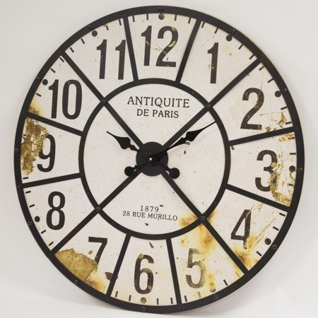 Zegar ścienny METAL MDF  bardzo EFEKTOWNY XXL 118005