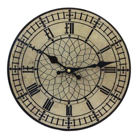 Zegar ścienny METALOWY retro loft 28 cm 125293
