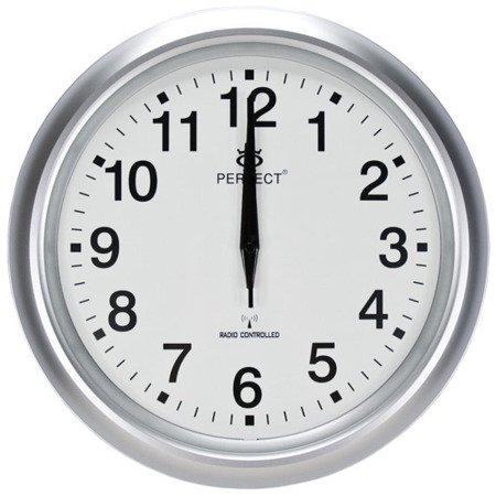 Zegar ścienny PERFECT DCF77 33 cm T972D1 SILV