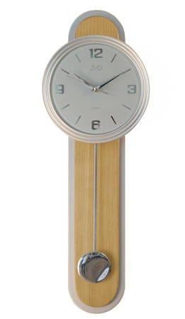 Zegar ścienny Z WAHADŁEM szkło drewno NS17014.68