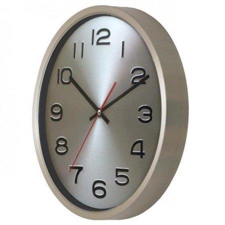 Zegar ścienny aluminium szczotkowane średni AL02M3