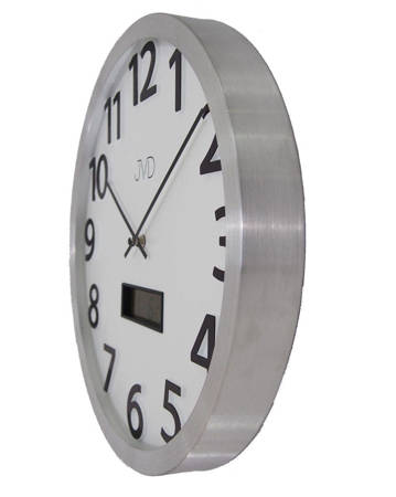 Zegar ścienny aluminium termometr datownik HO047.2