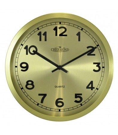 Zegar ścienny aluminium złoty elegancki  średni 7120 CG