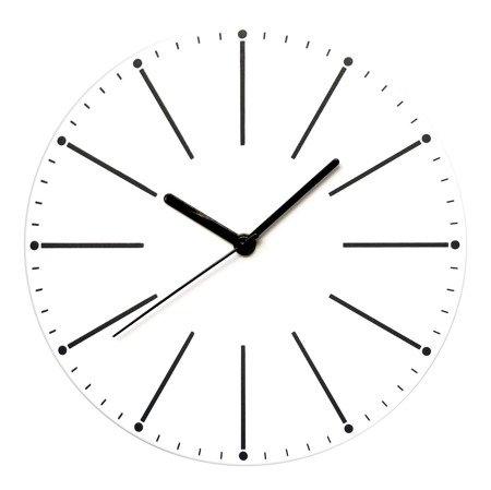 Zegar ścienny biały nowoczesny E01.3692.00