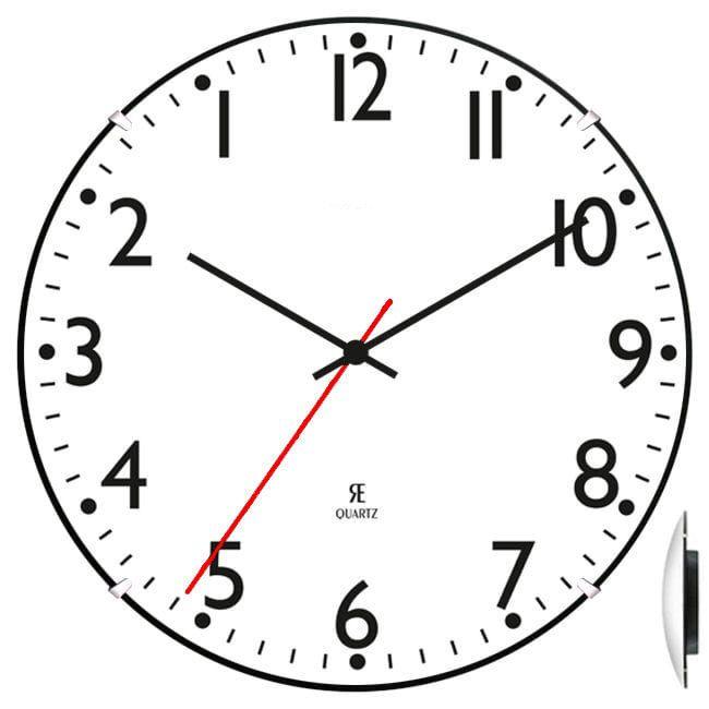 Zegar ścienny chodzący do tyłu AC2030-1 ZW