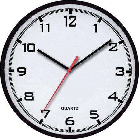 Zegar ścienny czarny czytelny E01.2478.90.A