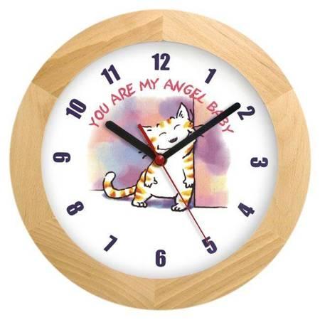 Zegar ścienny dla dzieci KOTEK ATW300H1 JES SW