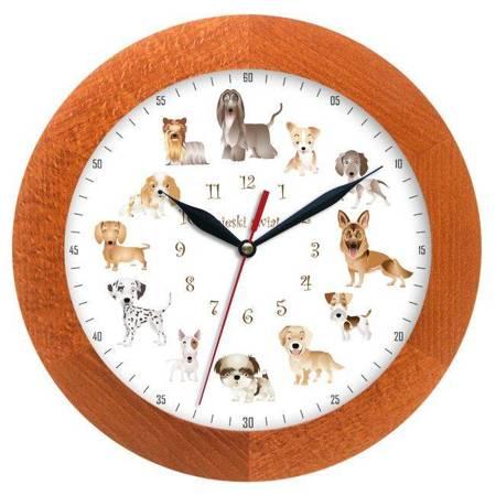 Zegar ścienny dla dzieci PIESKI ATW300P1 CAL SW