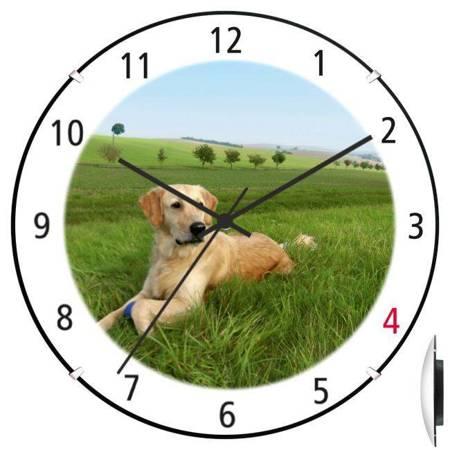 Zegar ścienny dla dziecka PIES ATE900PL1 BL SW