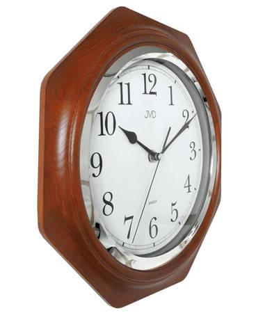 Zegar ścienny drewniany brązowy klasyczny NS71.3