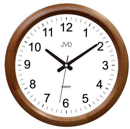 Zegar ścienny drewniany brązowy klasyczny NS8017.2