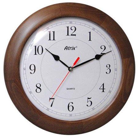 Zegar ścienny drewniany ciemny dąb ATW340D