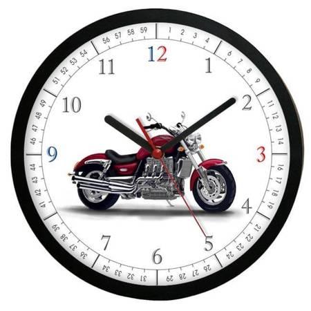 Zegar ścienny dziecięcy MOTOCYKL ATE2013MR2 BK SW