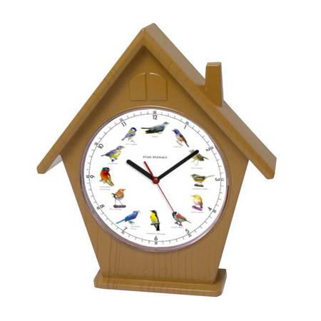 Zegar ścienny głosy ptaków domek ATE4030A SW