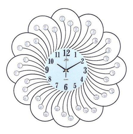 Zegar ścienny kryształki stal nowy design 59 cm HJ32