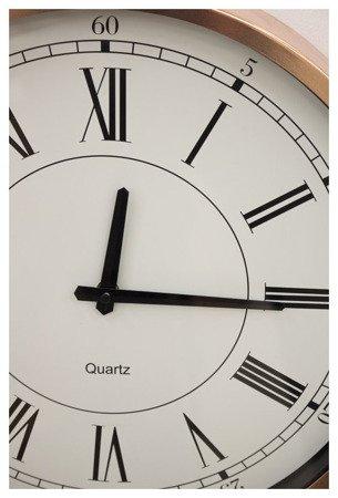 Zegar ścienny metalowy nowoczesny różowe złoto średni 103750