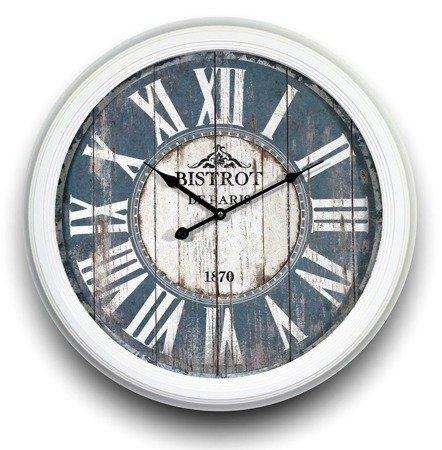 Zegar ścienny metalowy retro duży morski 91405