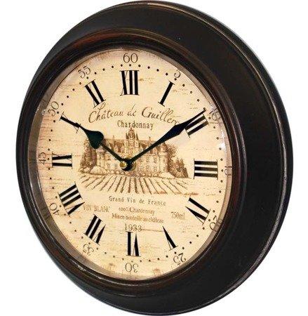 Zegar ścienny metalowy retro średni 77204