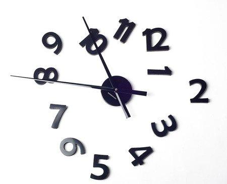 Zegar ścienny naklejany CZARNY 100 cm HS-140BB