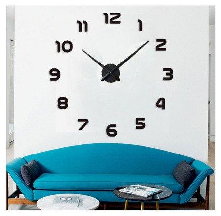 Zegar ścienny naklejany DIY czarny duży 110 cm DIY12B1