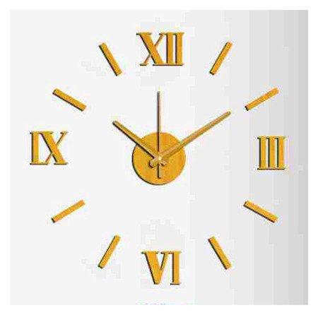 Zegar ścienny naklejany DIY złoty 60 cm MPM E01.3513