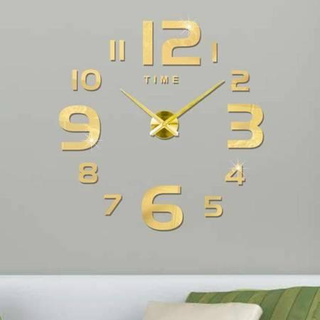 Zegar ścienny naklejany DIY złoty duży 100cm 22G4