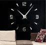 Zegar ścienny naklejany srebrny lustro duży 130 cm DIY15S5