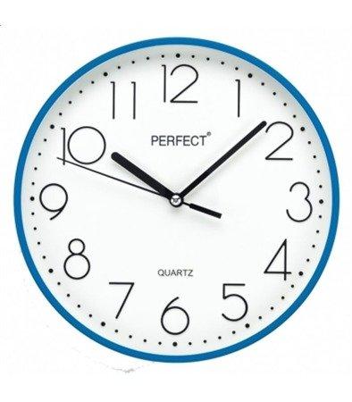 Zegar ścienny niebieski nowoczesny czytelny tworzywo FX-5814 Blue