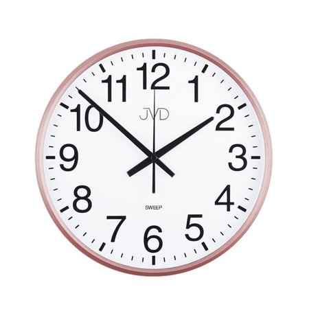 Zegar ścienny różowe złoto czytelny 30,5 HP684.3