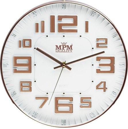 Zegar ścienny różowe złoto nowoczesny czytelny E01.3225.81