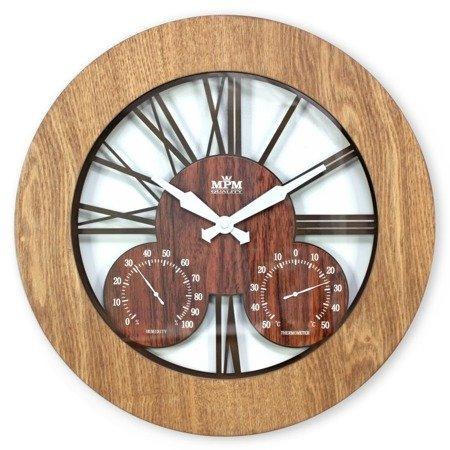 Zegar ścienny termometr duży 43 cm E07.3664.5052