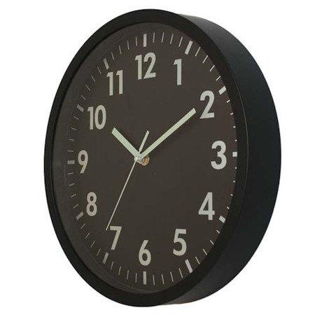Zegar ścienny czytelny czarny  ATE2013B