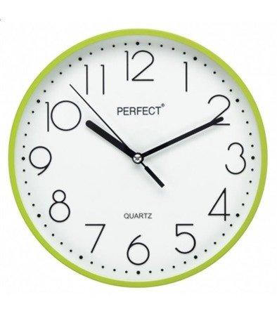 Zegar ścienny zielony nowoczesny czytelny tworzywo FX-5814 Green