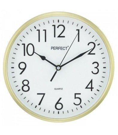 Zegar ścienny złoty  nowoczesny czytelny tworzywo FX-5742 Gold