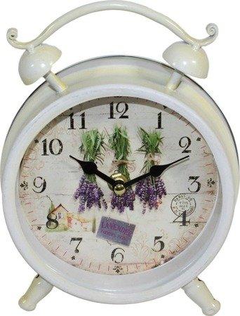 Zegar stojący METALOWY retro lawenda duży 93348