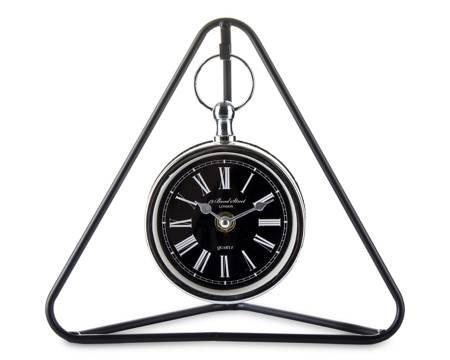 Zegar stojący kominkowy RETRO loft czarny 132421